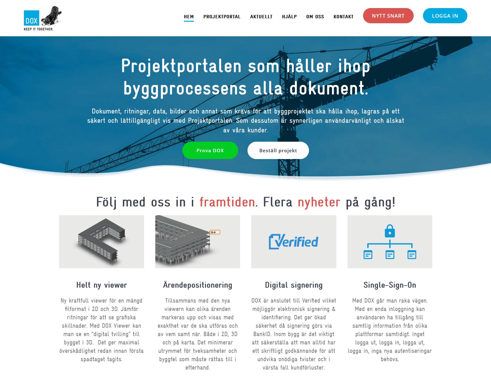 Dox projektportal