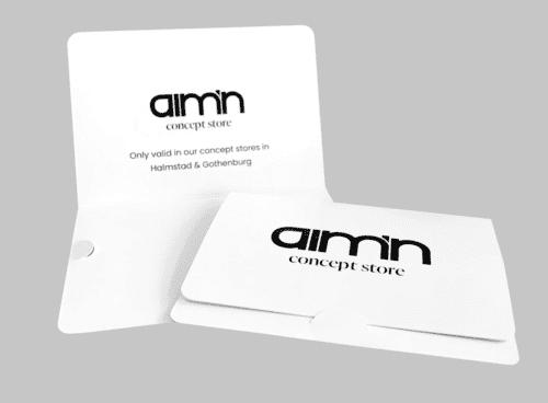 Presentkortsficka med logo till aimn